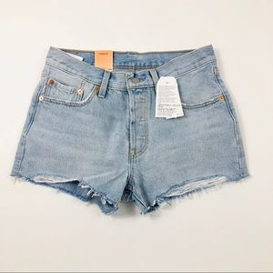 Levi's | Cut off Distress Hem Jean Shorts 501